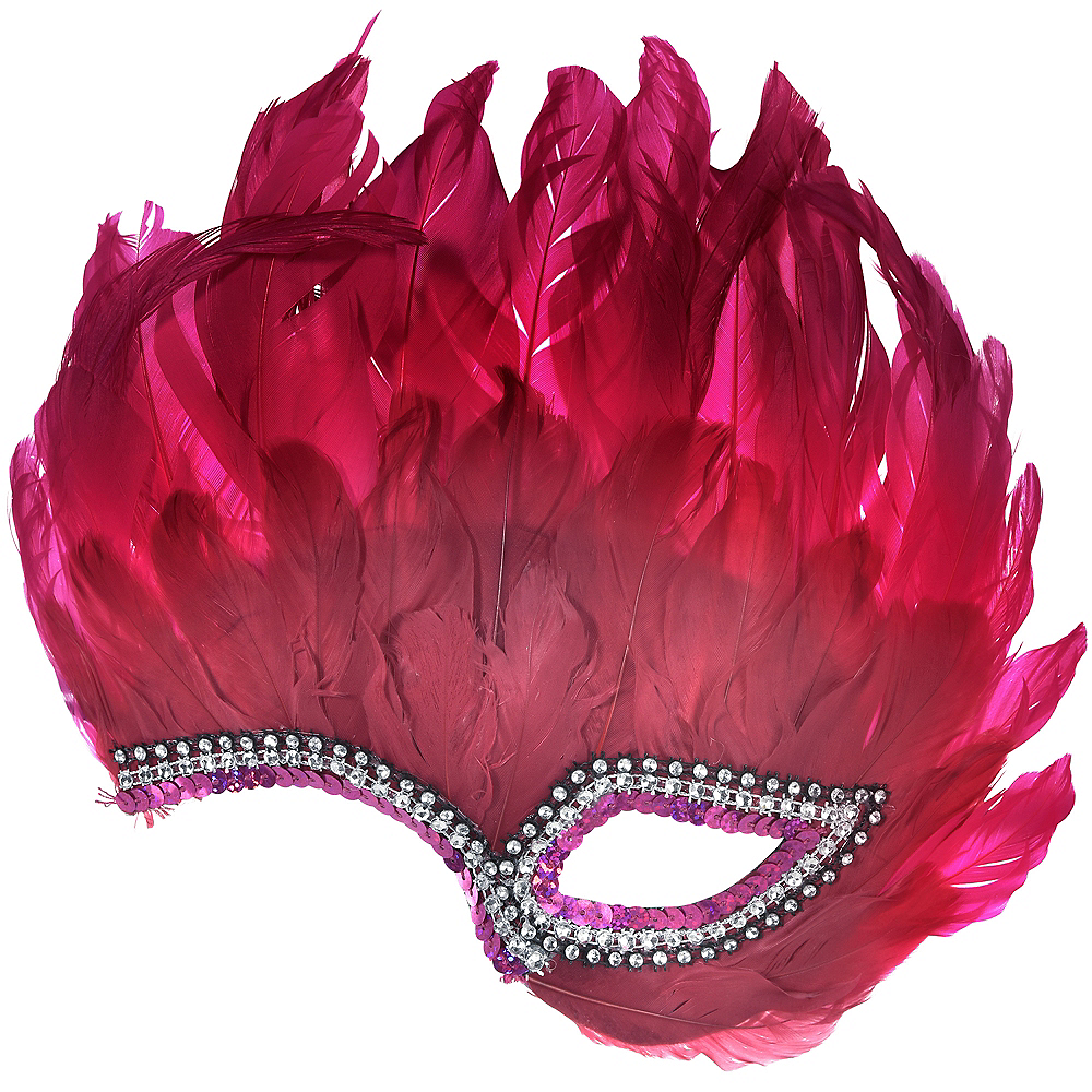 Chic Feather Half Mask Image #1