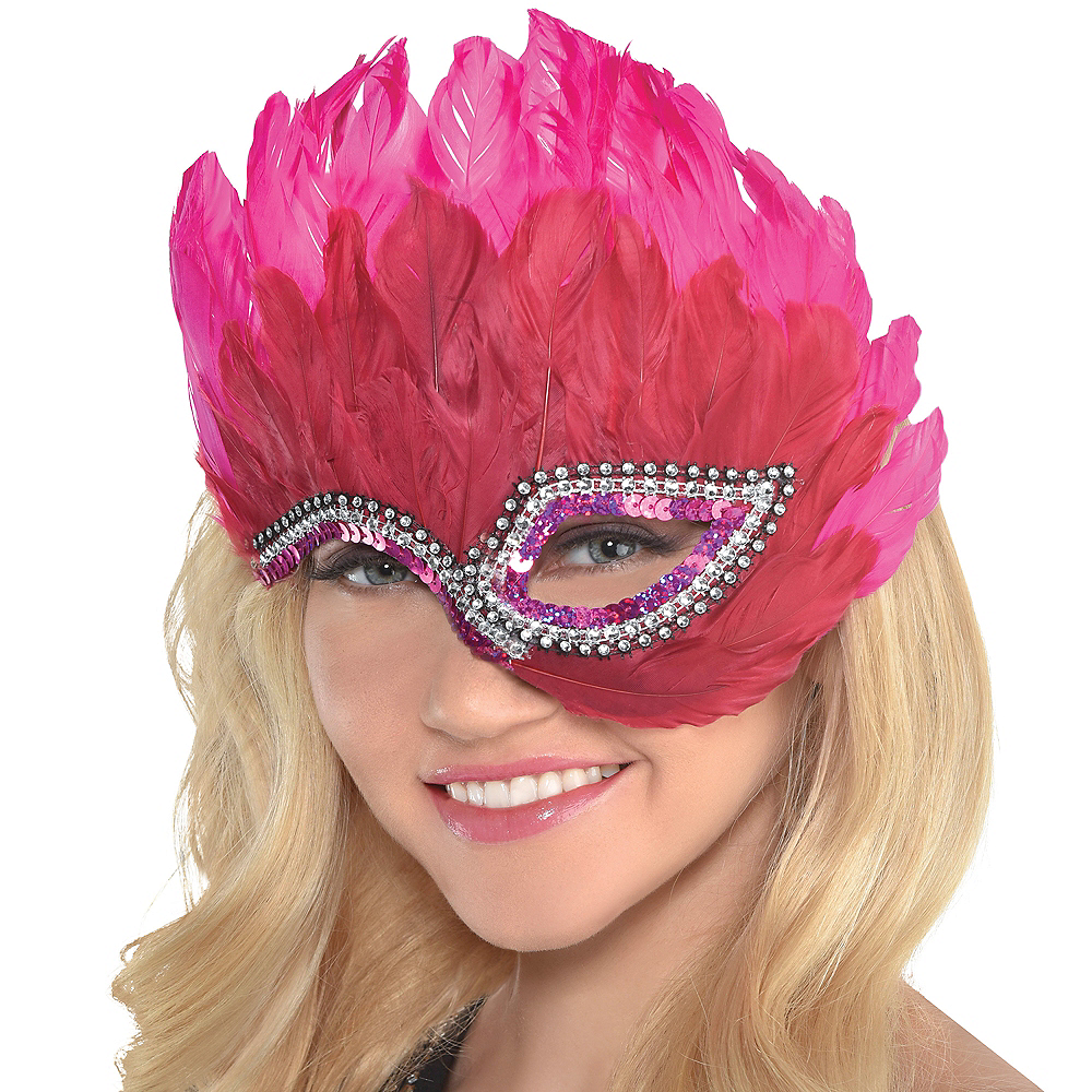 Chic Feather Half Mask Image #2