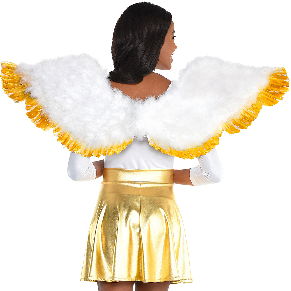 Gold-Tipped Feather Wings Image #1