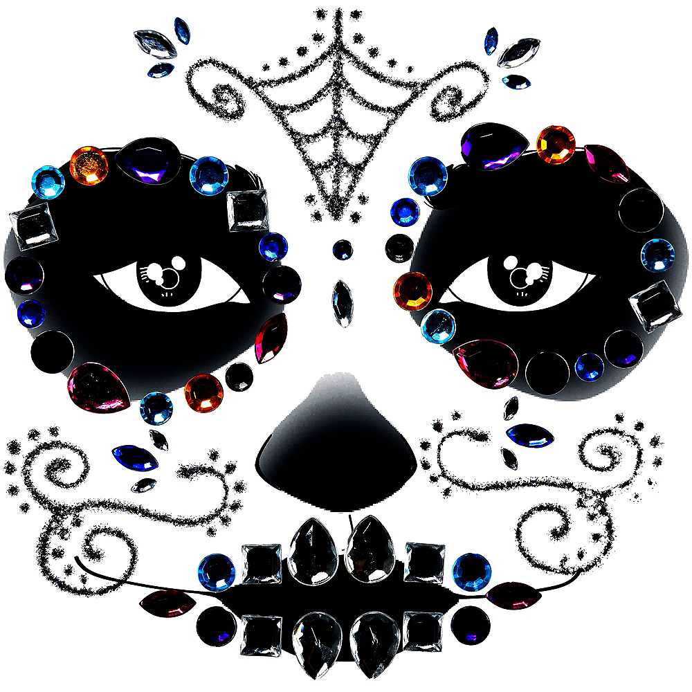 Neon Day of The Dead Body Jewelry Image #1