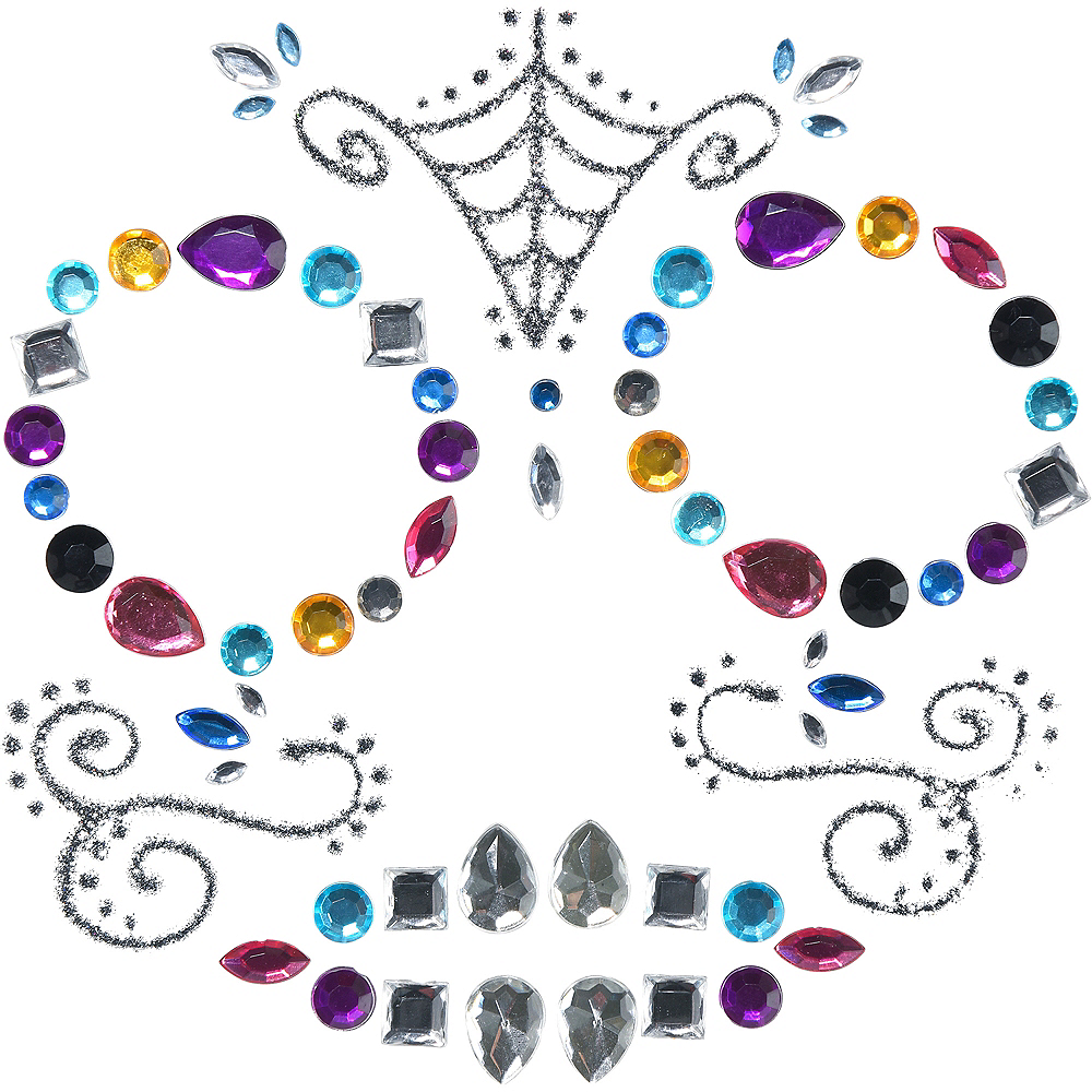 Neon Day of The Dead Body Jewelry Image #2