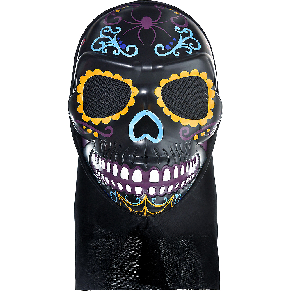 Neon Day of the Dead Full Head Mask Image #1