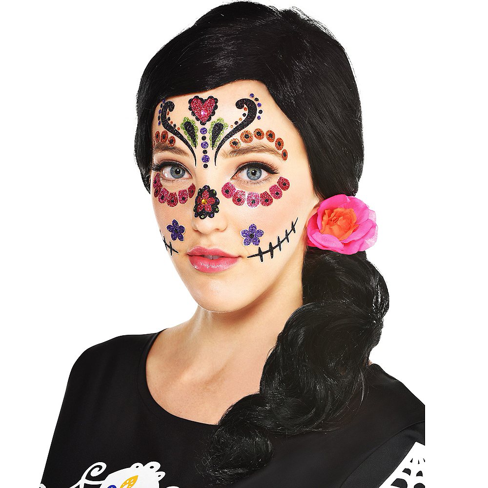 Traditional Day of the Dead Wig Image #1