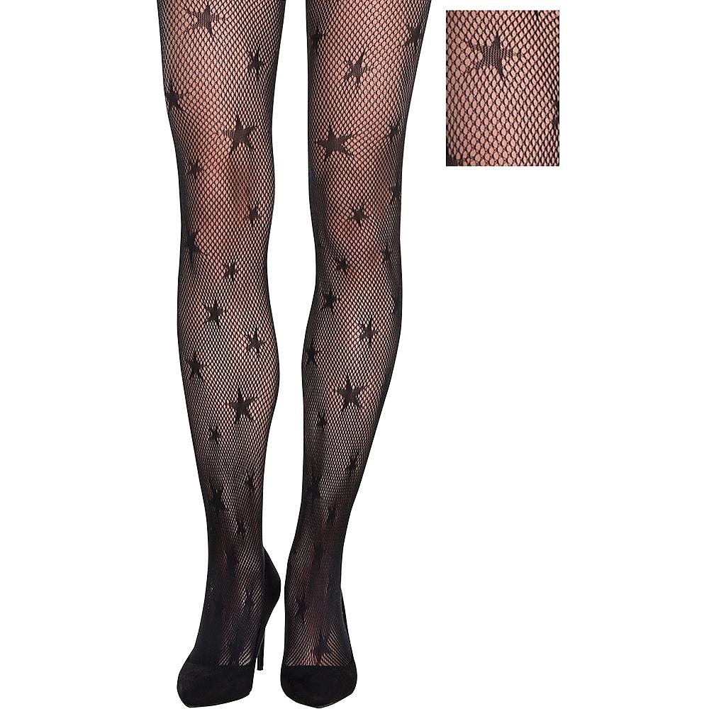 Adult Starry Fishnet Pantyhose Image #1