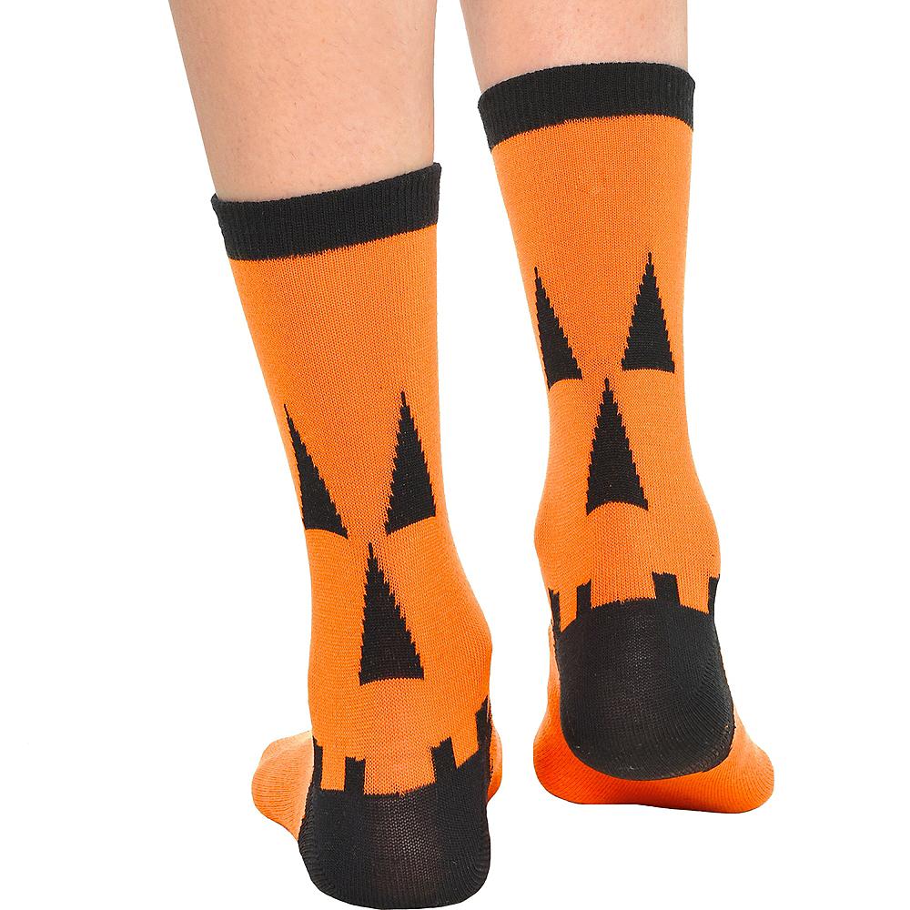 Jack-O-Lantern Crew Socks Image #2