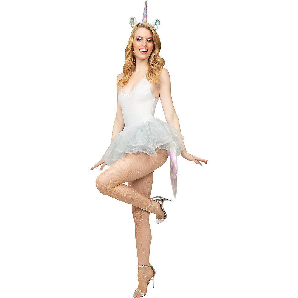 Adult Light-Up Iridescent Unicorn Costume Accessory Kit Image #1