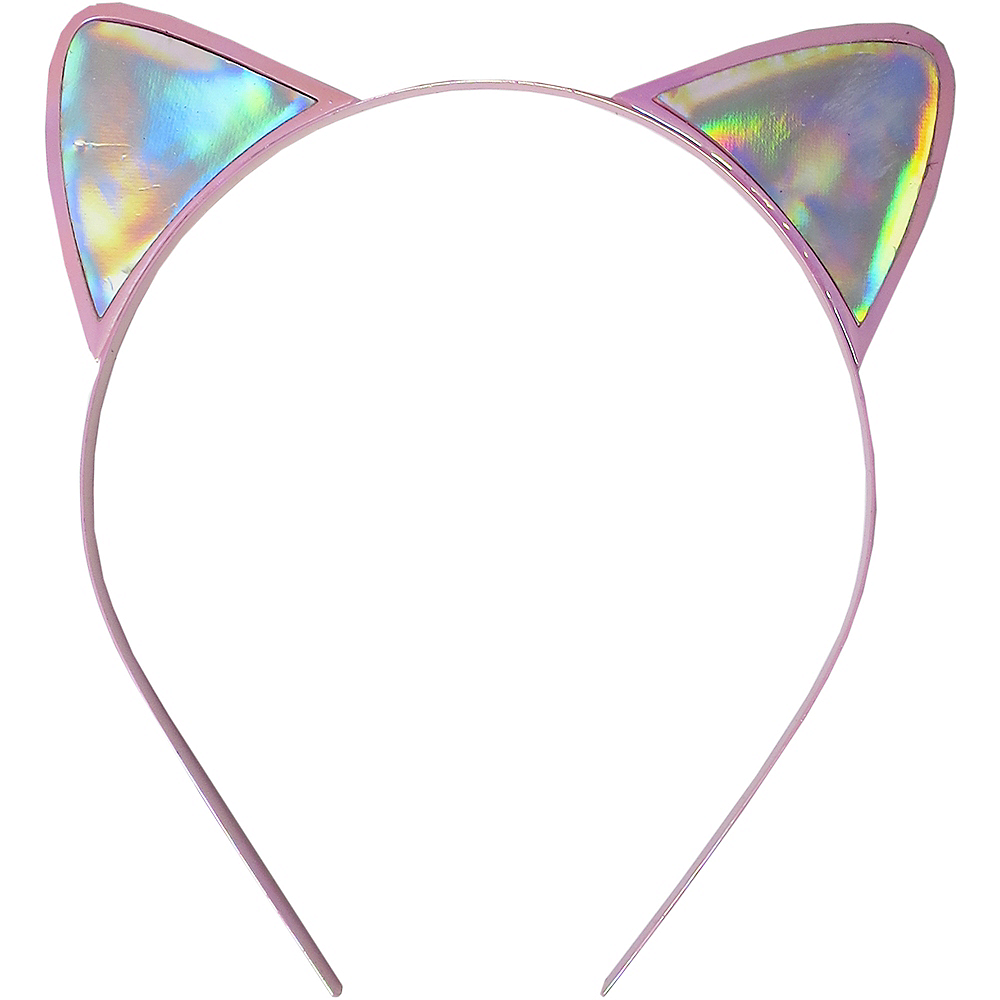 Iridescent Cat Ear Headband Image #1