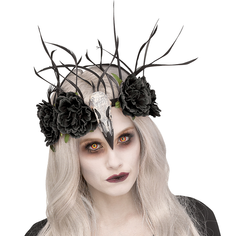 Nav Item for Zombie Mistress Raven Headband Image #1