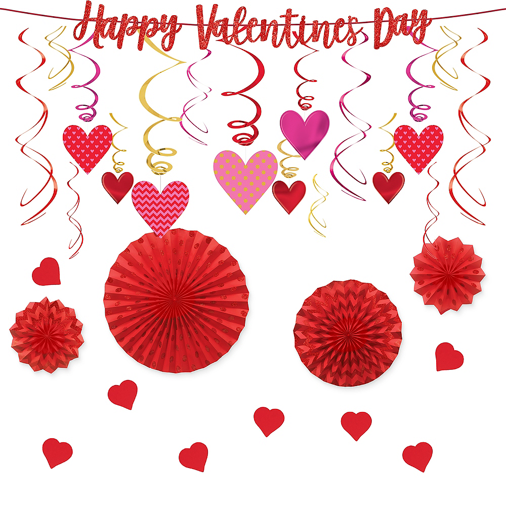 Hanging Hearts Valentine's Decorating Kit Image #1