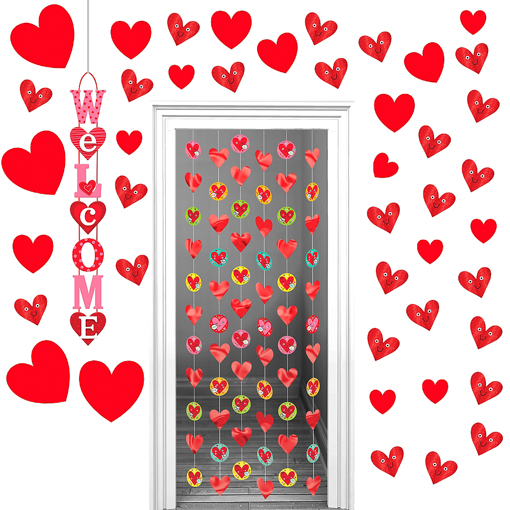 Heart Face Valentine's Day Classroom Decorating Kit Image #1