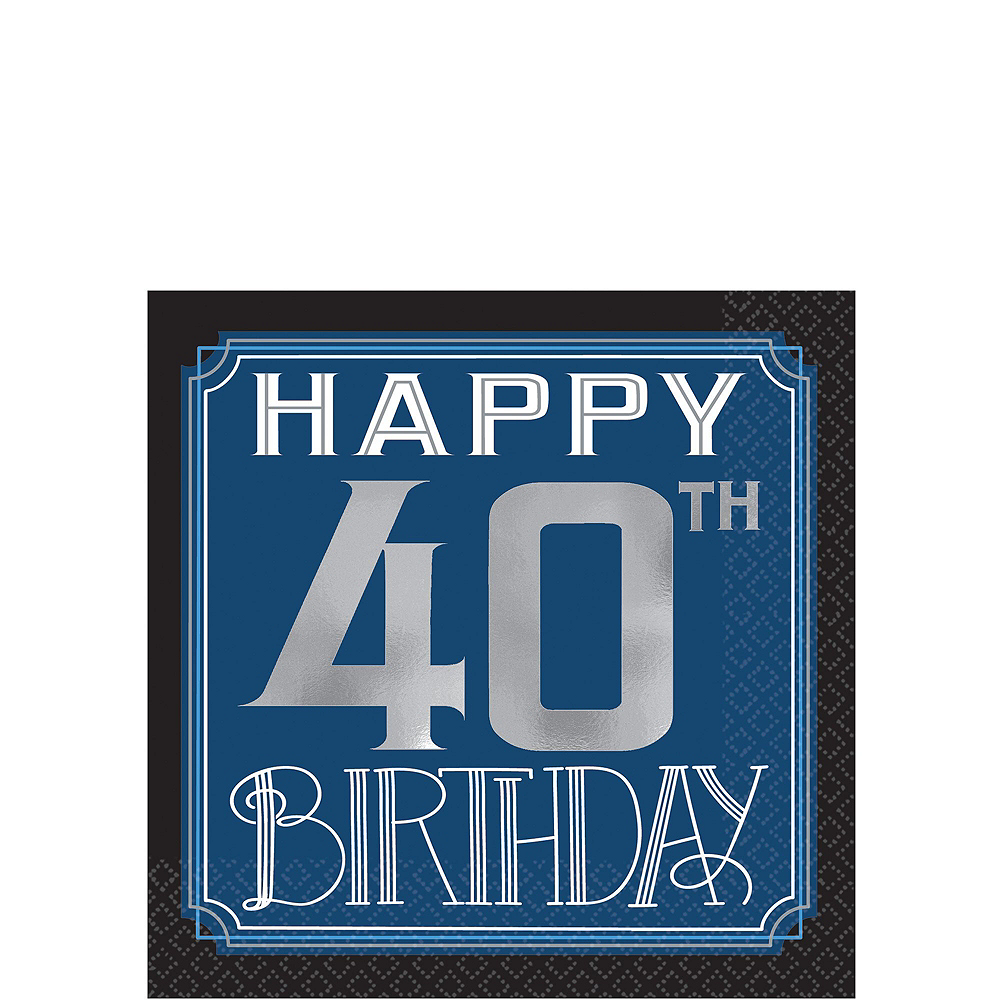 Vintage Happy Birthday 40th Birthday Party Kit for 32 Guests Image #4