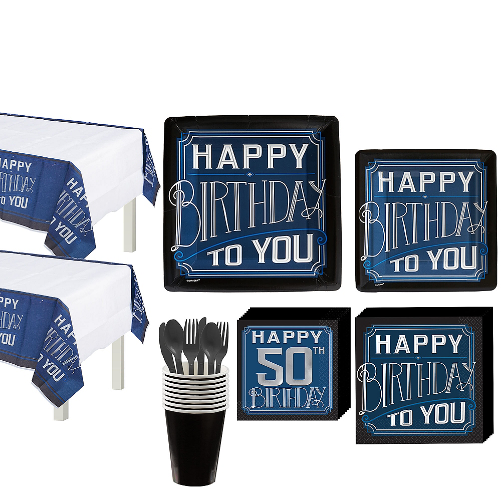 Nav Item For Vintage Happy Birthday 50th Party Kit 16 Guests Image 1