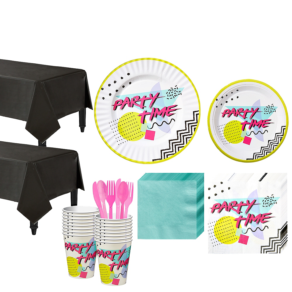 90s Tableware Kit for 16 Guests Image #1