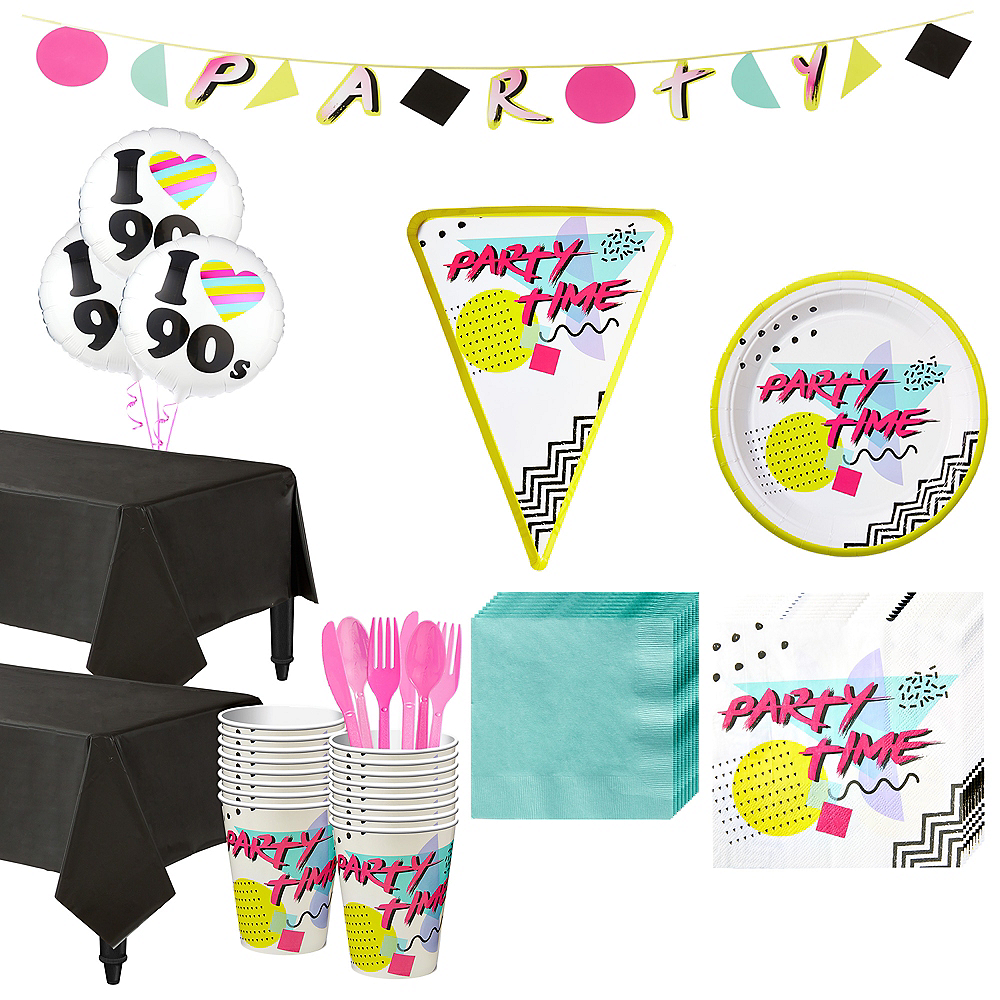 90s Pizza Party Kit for 16 Guests Image #1