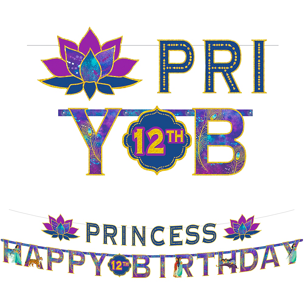 Aladdin Birthday Banner Kit Image #1