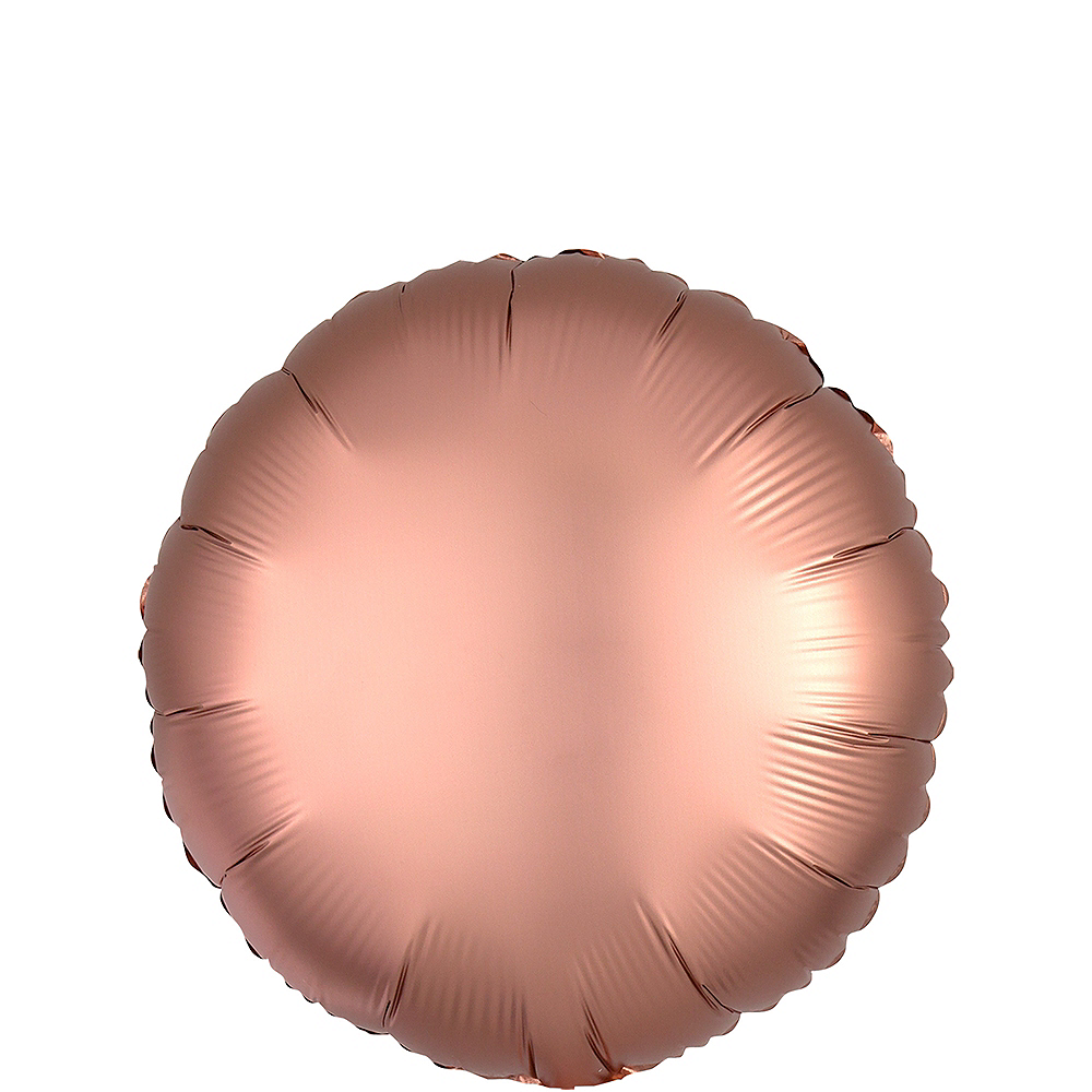 Rose Gold Satin Round Balloon Image #1