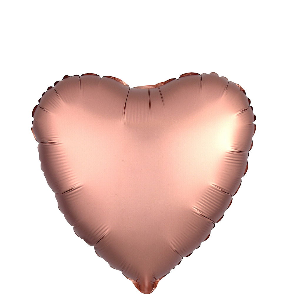 17in Rose Gold Satin Heart Balloon Image #1