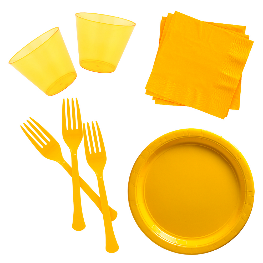 Yellow Cocktail Party Kit for 100 Guests Image #1