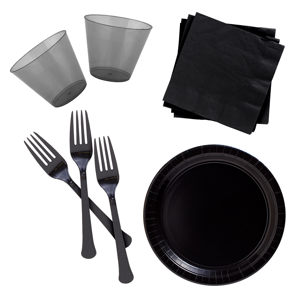 Black Cocktail Party Kit for 100 Guests Image #1