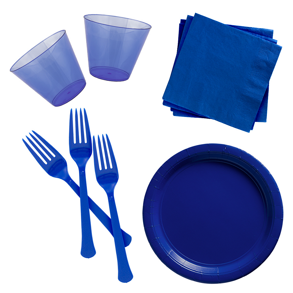 Royal Blue Cocktail Party Kit for 100 Guests Image #1