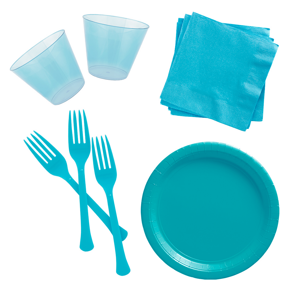 Caribbean Blue Cocktail Party Kit for 100 Guests Image #1