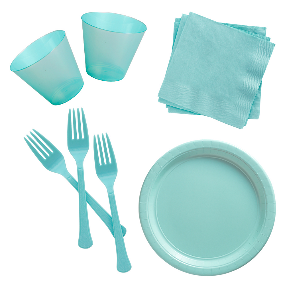Robin's Egg Blue Cocktail Party Kit for 100 Guests Image #1