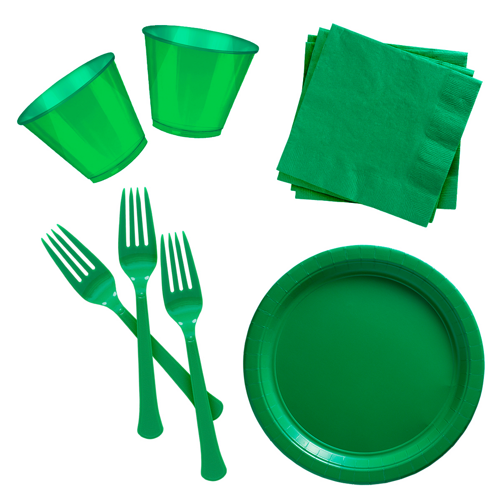Festive Green Cocktail Party Kit for 100 Guests Image #1