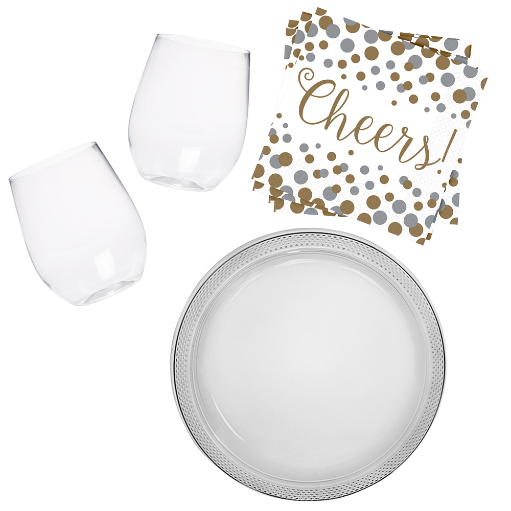 Stemless Wine Glass Kit for 16 Guests Image #1