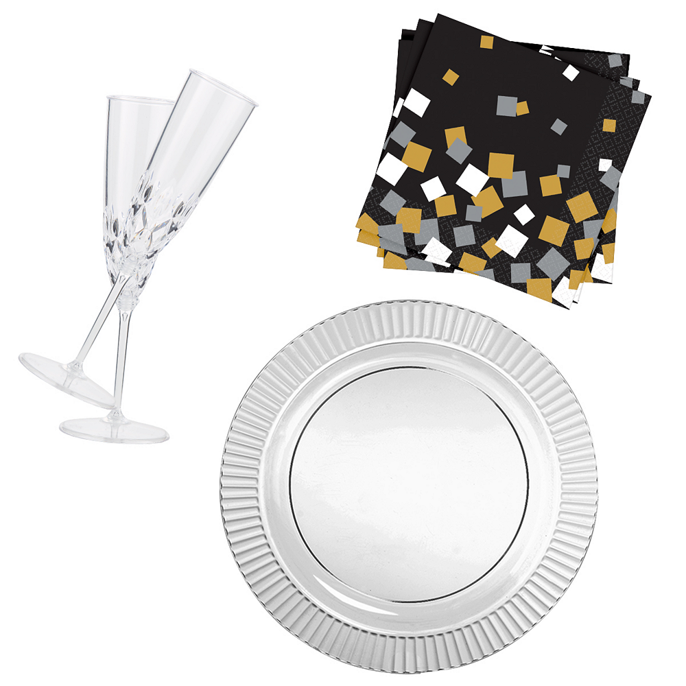 CLEAR Crystal Champagne Party Kit for 32 Guests Image #1