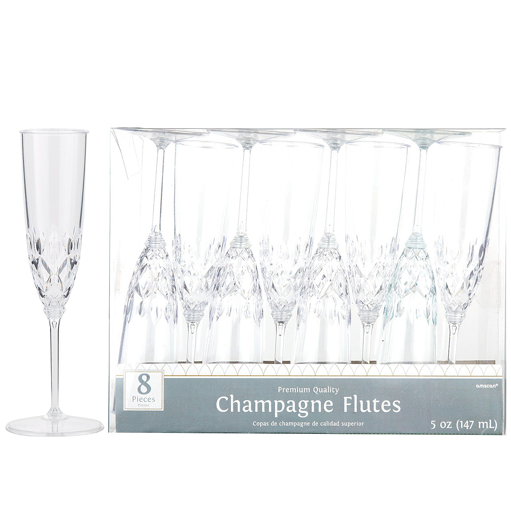 CLEAR Crystal Champagne Party Kit for 32 Guests Image #4