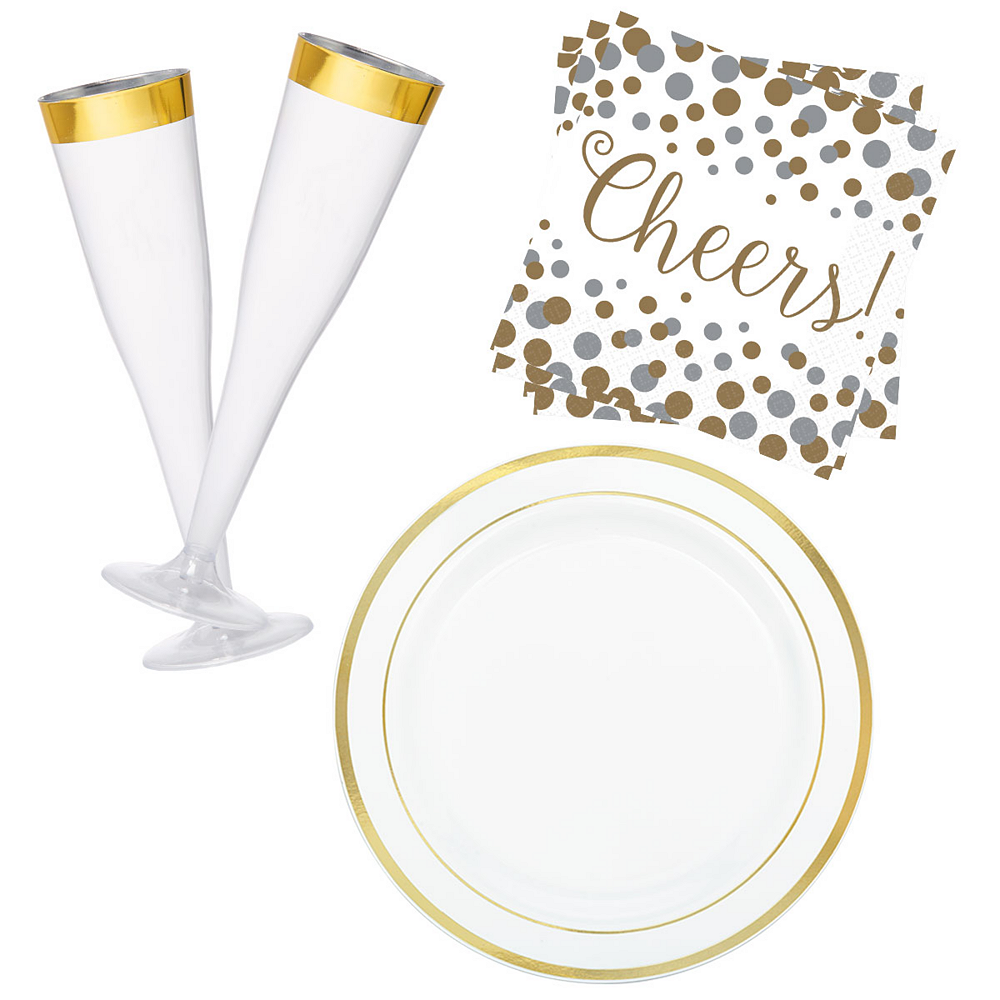 Gold Champagne Party Kit for 16 Guests Image #1