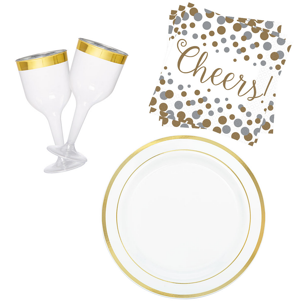 Gold Wine Party Kit for 16 Guests Image #1