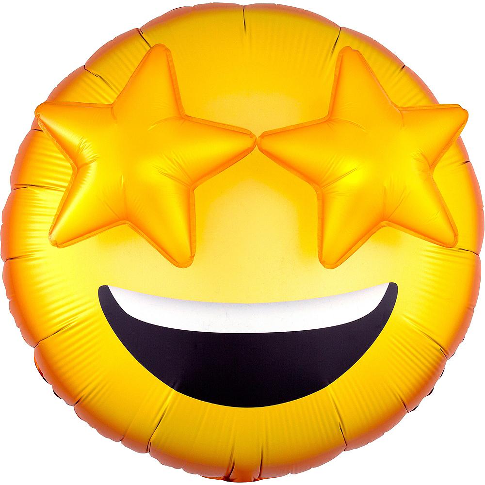 Giant 3D Star Eyes Smiley Balloon Image #1