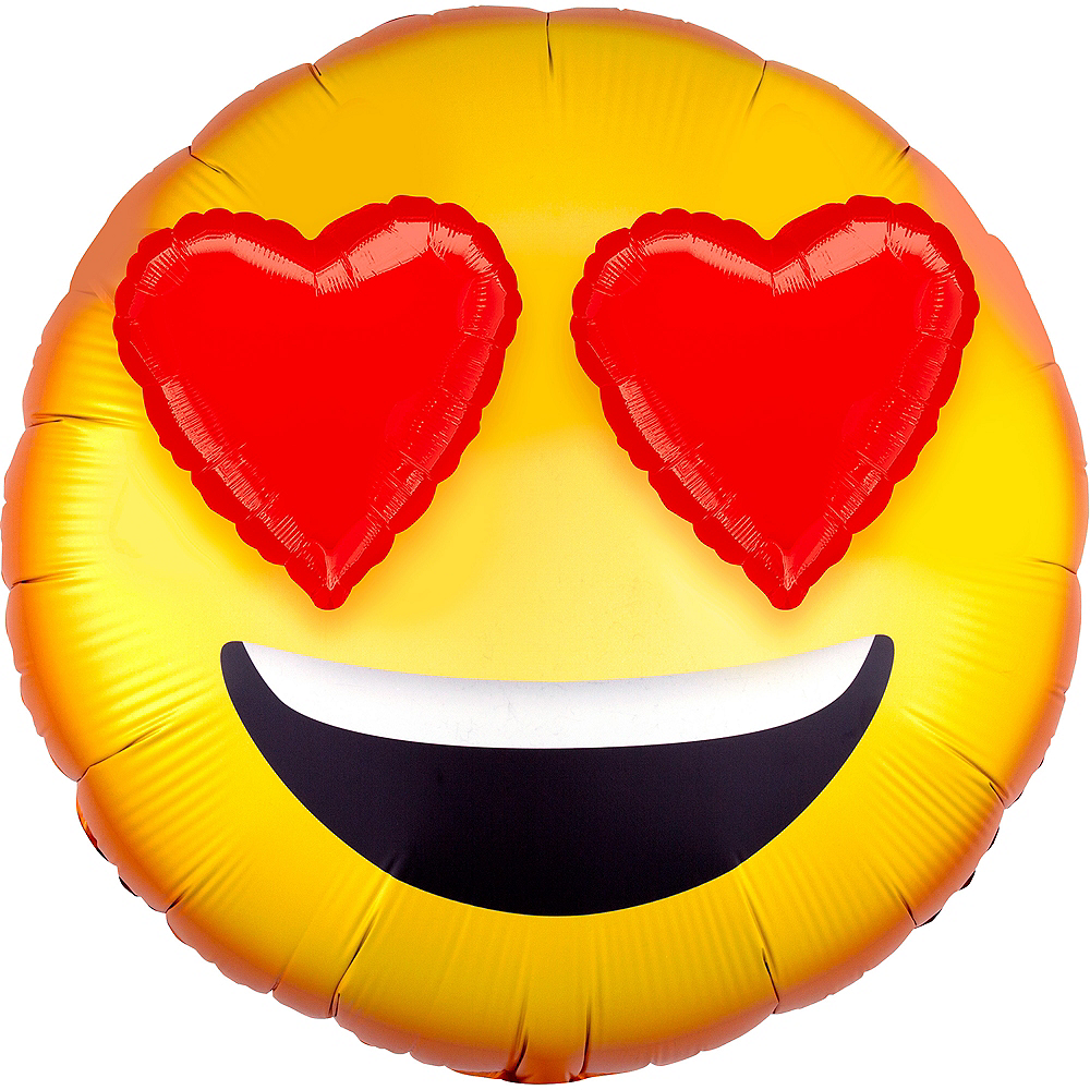 Giant 3D Love Eyes Smiley Balloon Image #1