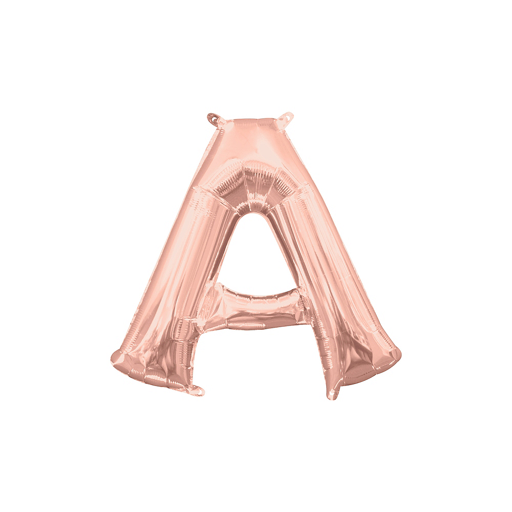 13in Air-Filled Rose Gold Letter Balloon (A) Image #1