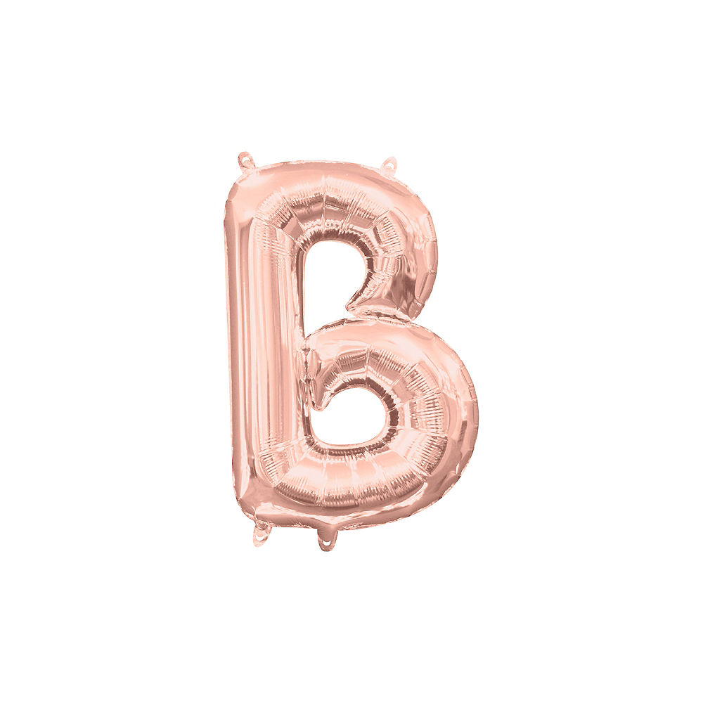 13in Air-Filled Rose Gold Letter Balloon (B) Image #1