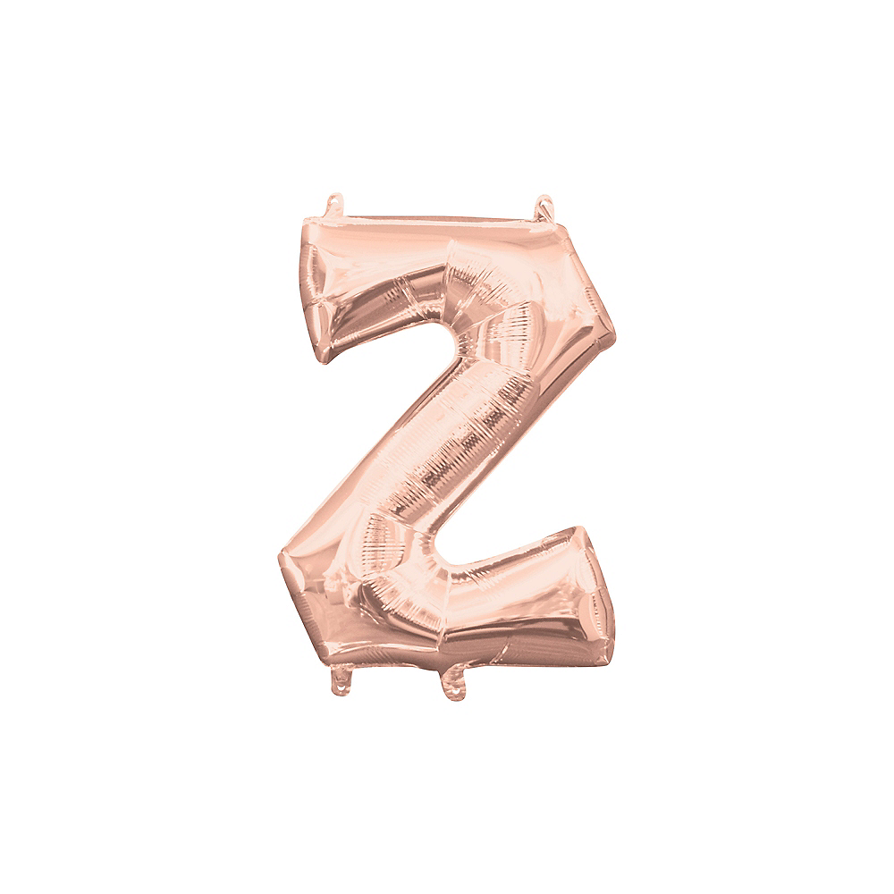 13in Air-Filled Rose Gold Letter Balloon (Z) Image #1