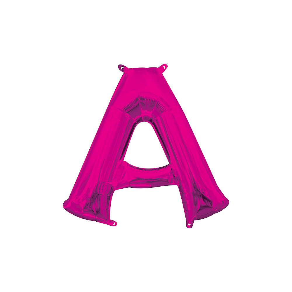 13in Air-Filled Bright Pink Letter Balloon (A) Image #1