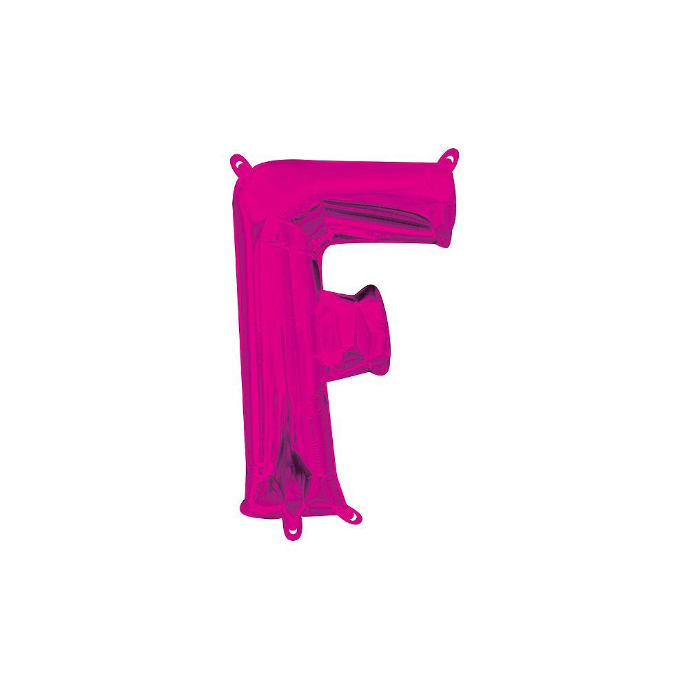 13in Air-Filled Bright Pink Letter Balloon (F) Image #1