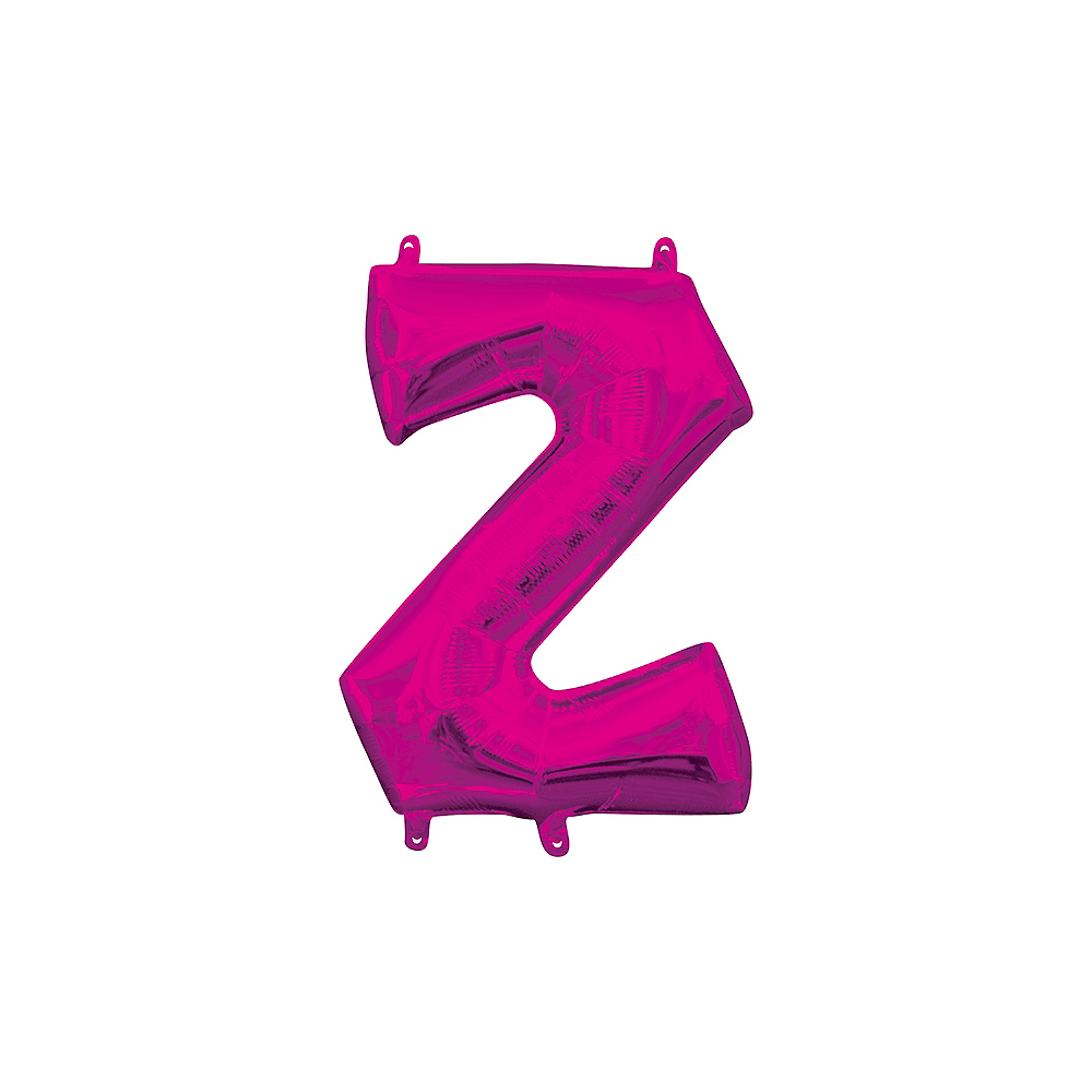 13in Air-Filled Bright Pink Letter Balloon (Z) Image #1
