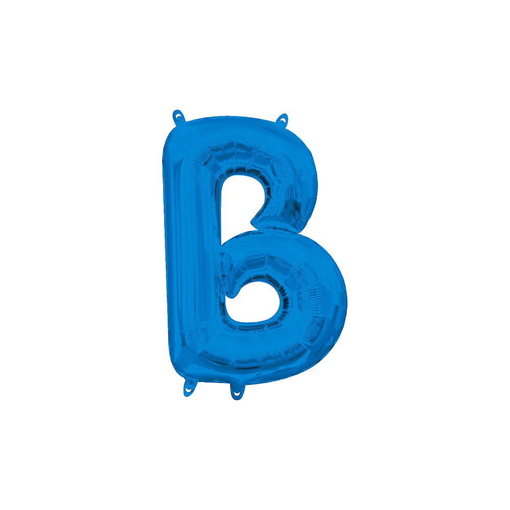 13in Air-Filled Blue Letter Balloon (B) Image #1