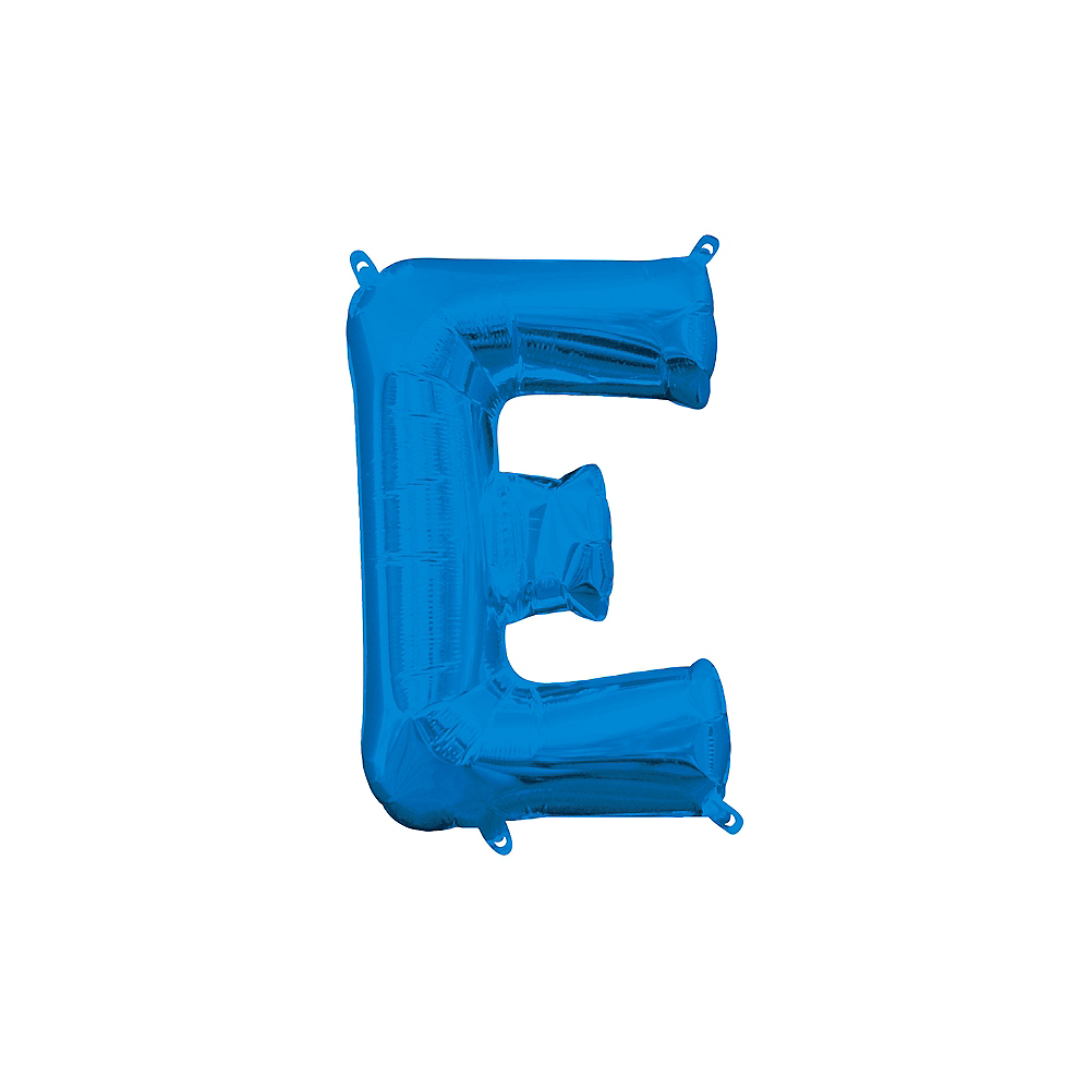 13in Air-Filled Blue Letter Balloon (E) Image #1