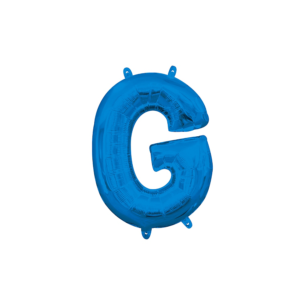 13in Air-Filled Blue Letter Balloon (G) Image #1