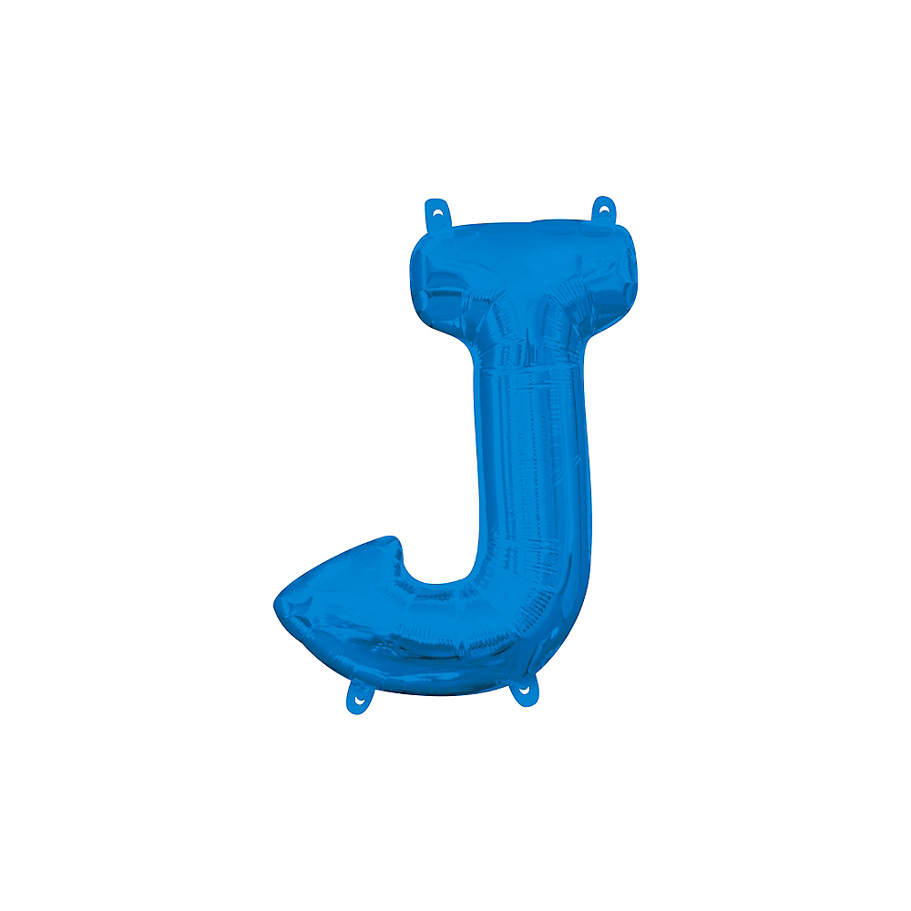 13in Air-Filled Blue Letter Balloon (J) Image #1
