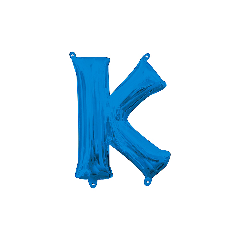 13in Air-Filled Blue Letter Balloon (K) Image #1