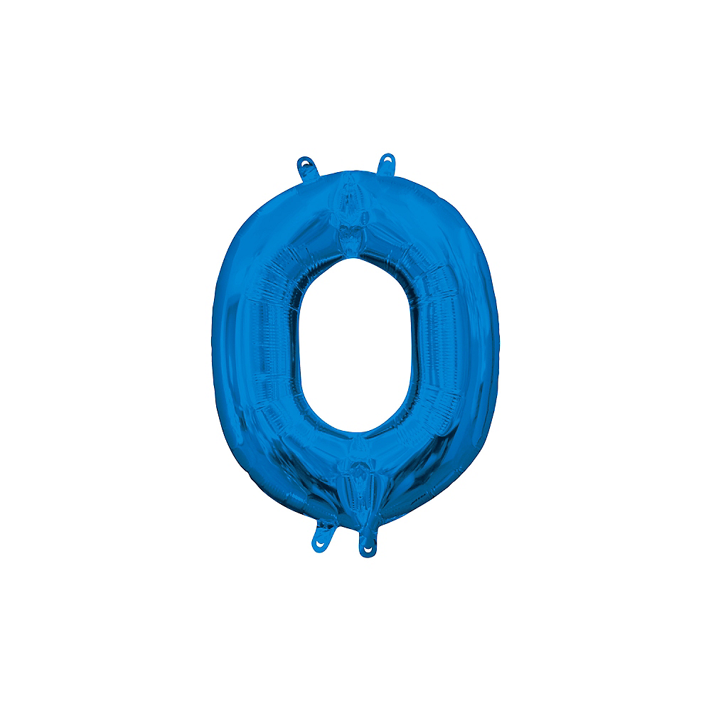 13in Air-Filled Blue Letter Balloon (O) Image #1