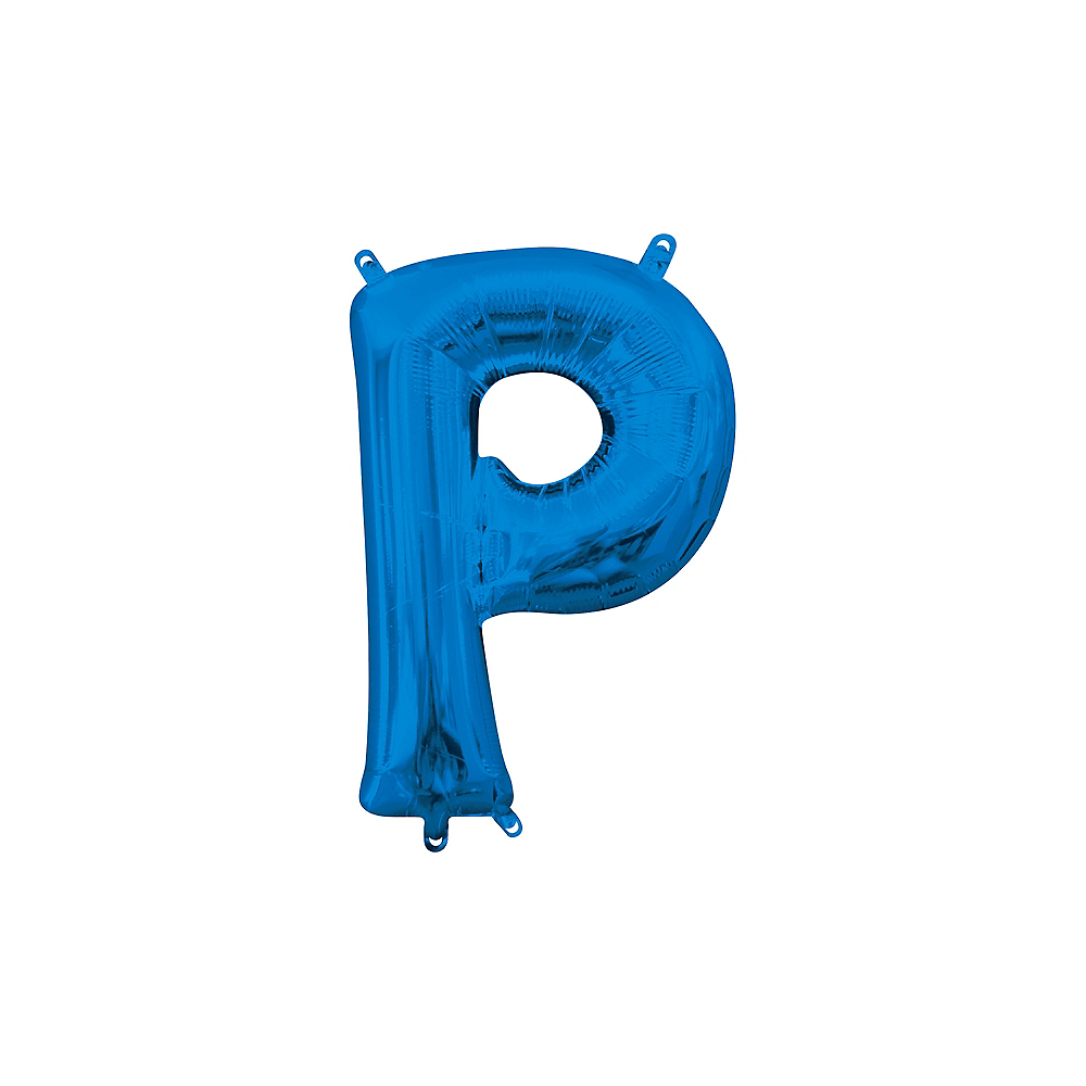 13in Air-Filled Blue Letter Balloon (P) Image #1