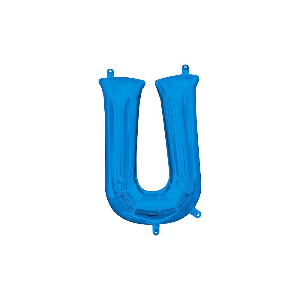 13in Air-Filled Blue Letter Balloon (U) Image #1