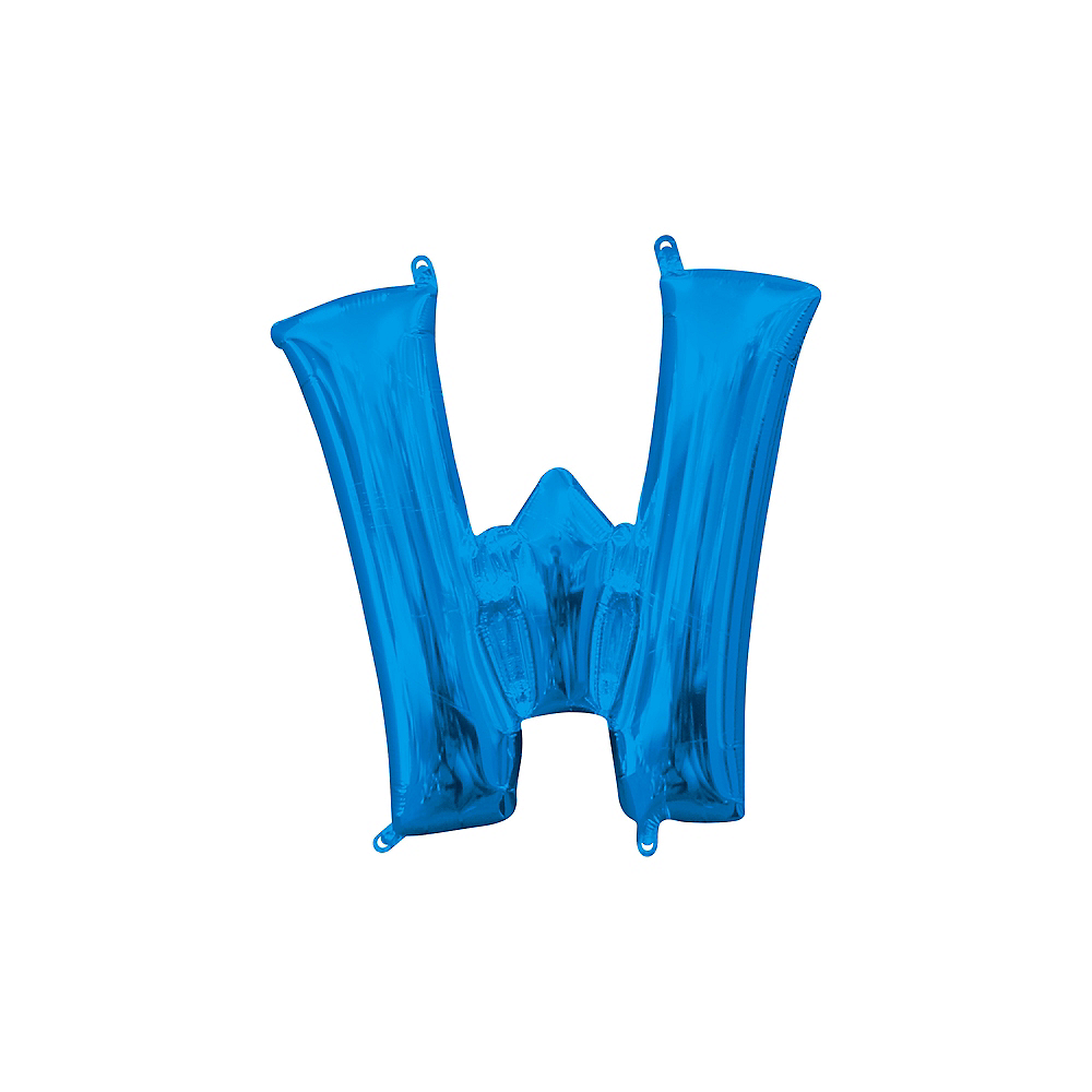 13in Air-Filled Blue Letter Balloon (W) Image #1