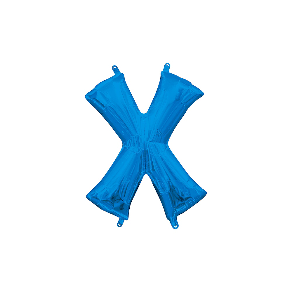 13in Air-Filled Blue Letter Balloon (X) Image #1